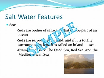 Earth's Water Features Preentation