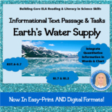 Earth's Water Supply: Informational Text Passage & Tasks (Integrate Visual RI.7)