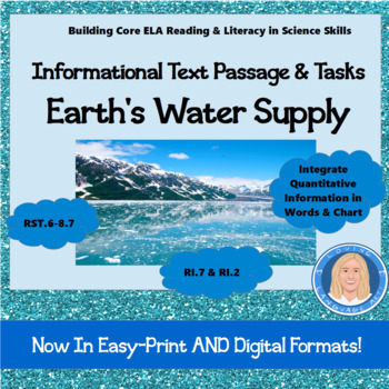 Earth's Water Supply Informational Text & Common Core Read