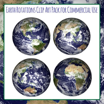 Earths / Worlds / Globes - Commercial Use Clip Art Set