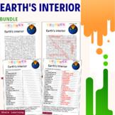 Earths interior Science Activity - Bundle Scramble Word Fi