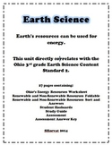 Earth's resources can be used for energy