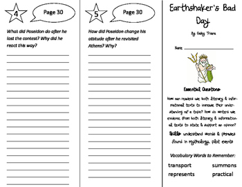 Earthshaker's Bad Day Trifold - ReadyGen 2016 4th Grade Un