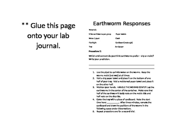 Earthworm Environmental Responses