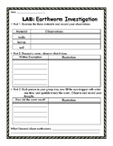 Earthworm Investigation Lab Sheet: HANDS ON activity!