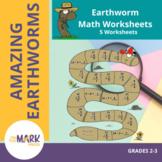 Earthworm Math Worksheets! Grades 2-3