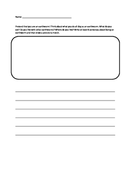 Earthworm Writing Prompts- Fiction and Non-Fiction