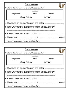 Earthworms Study Guide