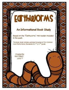 Earthworms for Kids! A Science and ELA pack for 1st and 2nd Graders