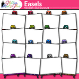 Easel Clip Art   Rainbow Upright Support for Display of Art Projects & Paintings
