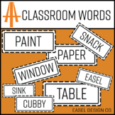 Easel Design Classroom Words Clip Art Pack