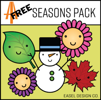 Easel Design FREE Seasons Clip Art Pack
