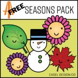 Easel Design FREE Seasons Clip Art Pack