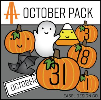 Easel Design October Calendar Pack