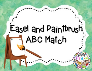 Easel and Paintbrush ABC Match