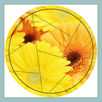 Easi-Cut Circle Jigsaw Puzzle Template Overlays Clip Art for Commercial Use