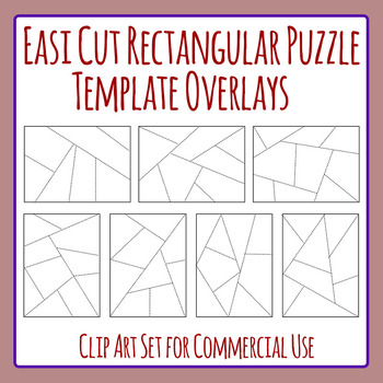 Easi Cut Rectangle Jigsaw Puzzle Template Overlays Clip Art For
