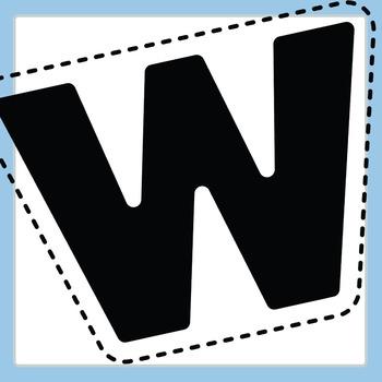 Easi-Cutout Letters Clip Art - Simple Cut Out Alphabet Clip Art Commercial Use