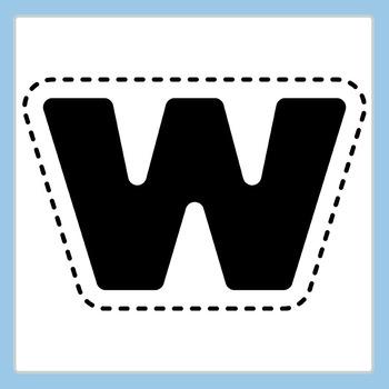 Easi-Cutout Lowercase Letters - Simple Cut Out Alphabet Clip Art Commercial Use