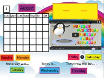 RM EasiTeach Nex GenerationnInteractive Morning Calendar with Calendar Math