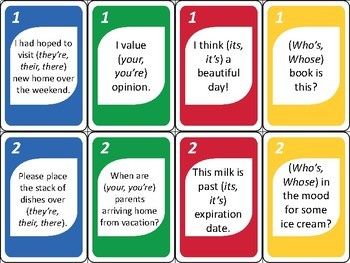 Easily Confused Words SWITCH ELA Card Game