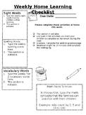 Easily Editable Weekly Homework
