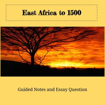 East Africa to 1500
