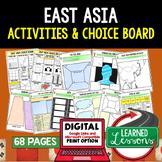 East Asia Activities, Choice Board, Print & Digital, Googl