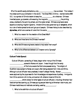 East Asia Close Reading Paragraphs