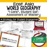 East Asia Geography I Cans, Self-Assessment of Mastery, Ea
