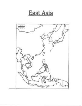 East Asia Map Blank By Pointer Education Teachers Pay Teachers
