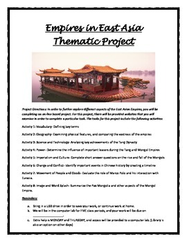 East Asia Project/WebQuest