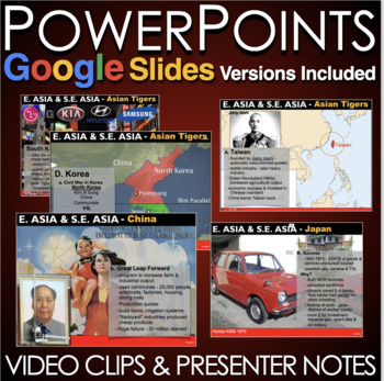 East Asia & South East Asia to Present Powerpoint with Presenter Notes