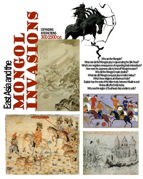 East Asia and the Mongol Invasions Poster