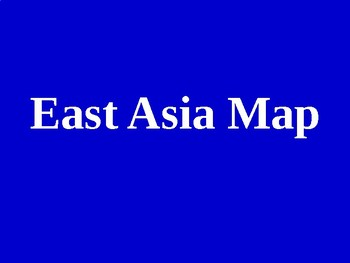 East Asian Countries Map