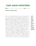 East Asian Countries Word Search