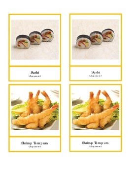 East Asian Food Cards