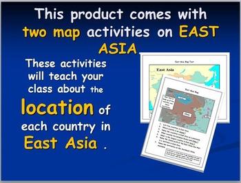 East Asian Map Activities