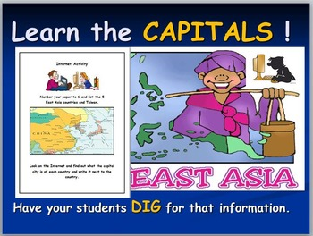East Asian Map and Internet Activities