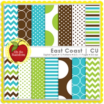 East Coast Digital Papers {Papers for Commercial Use}