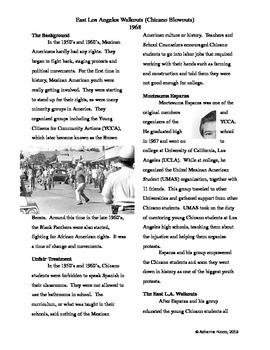 East L.A. Walkouts Article