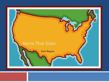 East Region Name That State Game