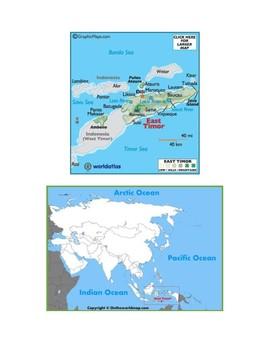 East Timor Map Scavenger Hunt