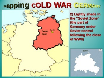 East-West Germany & Berlin Map Activity: Fun, engaging follow-along 25-slide PPT