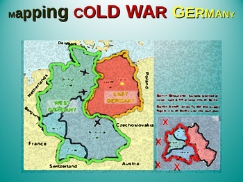 East-West Germany & Berlin Map Activity: Fun, ening follow-along 25-slide on map of europe cold war, nato cold war, berlin wall map cold war, map of berlin world war 2, map of warsaw pact cold war,