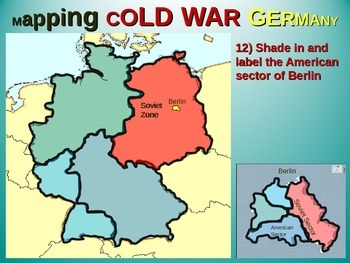 Berlin Map Of Germany.East West Germany Berlin Map Activity Fun Engaging Follow Along 25 Slide Ppt