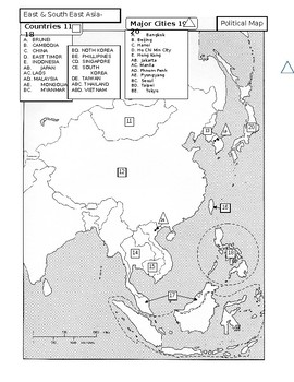 East and Southeast Asia Map Quiz