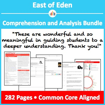 East of Eden – Comprehension and Analysis Bundle