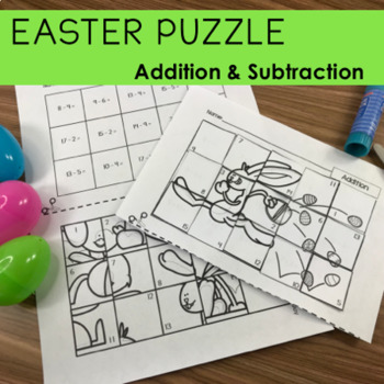 Easter Holiday Addition & Subtraction Picture Puzzles