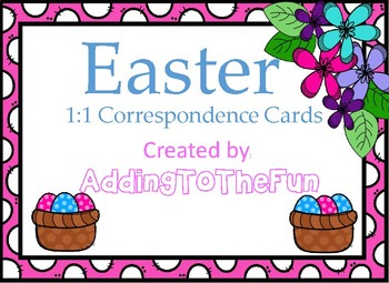 Easter  1:1 Correspondence Clip Cards